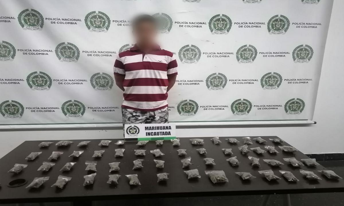 A Venezolano le pillaron marihuana en dosis por La Trinidad