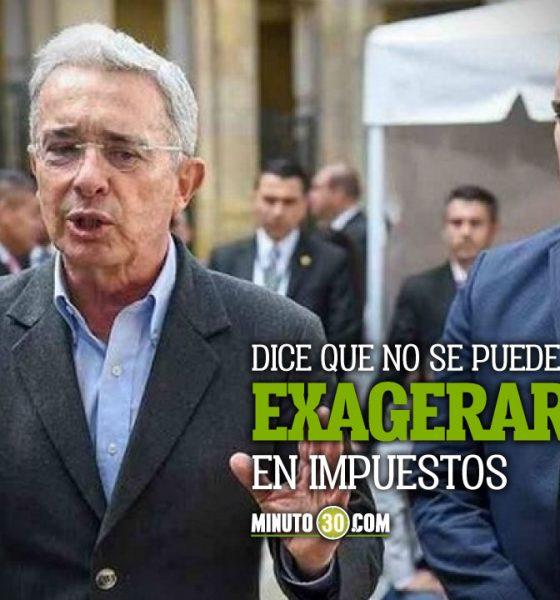 Uribe pide cambios en la reforma tributaria de Duque aunque respalda muchos puntos