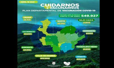 Así va la vacunación contra el Covid en Antioquia