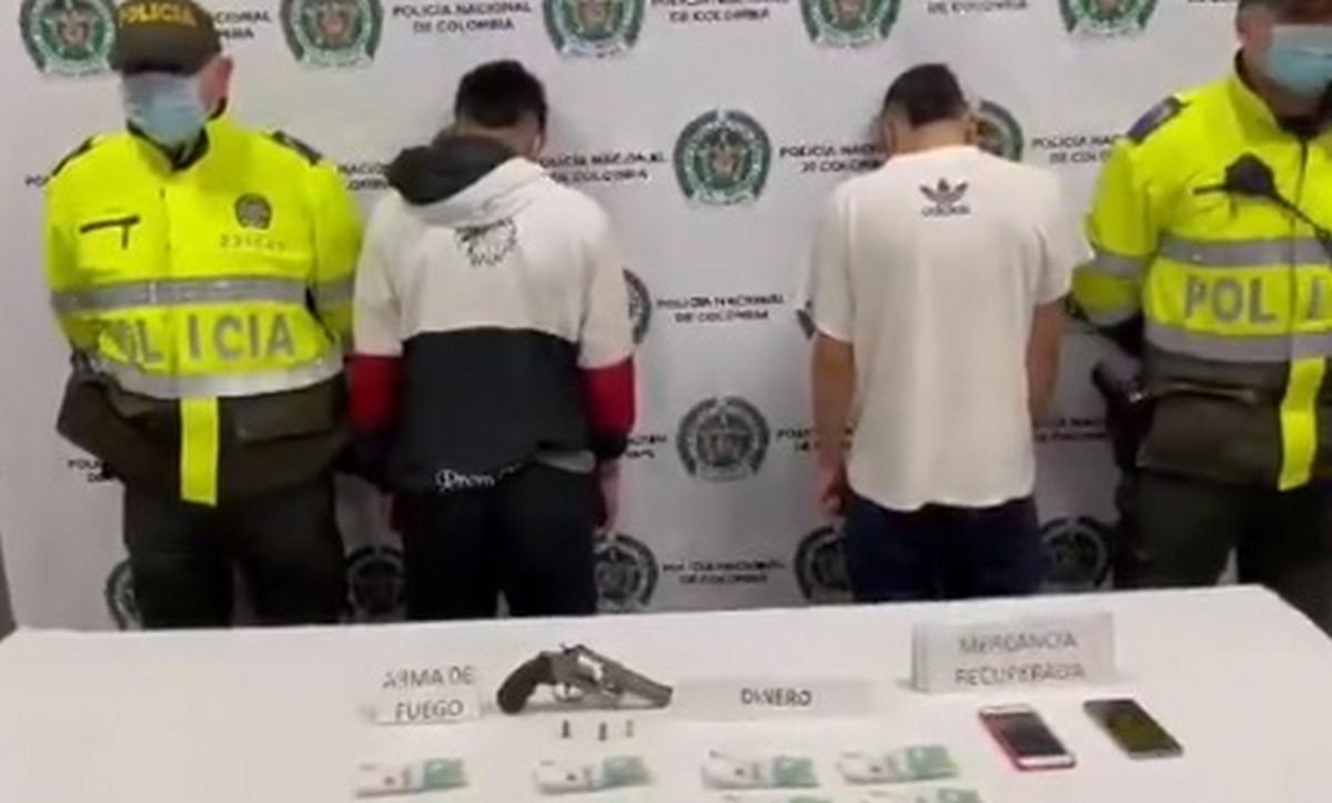 Capturados por hurto en Bogotá
