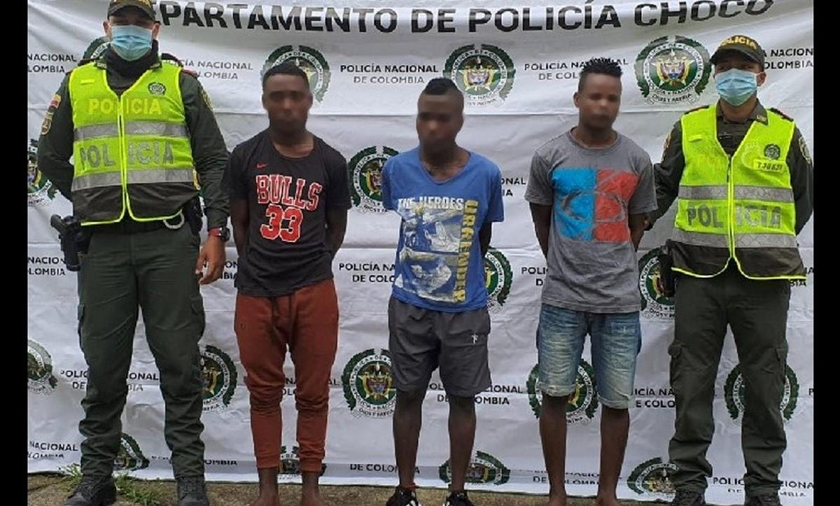 Presuntos responsables del homicidio de patrullero en Quibdó