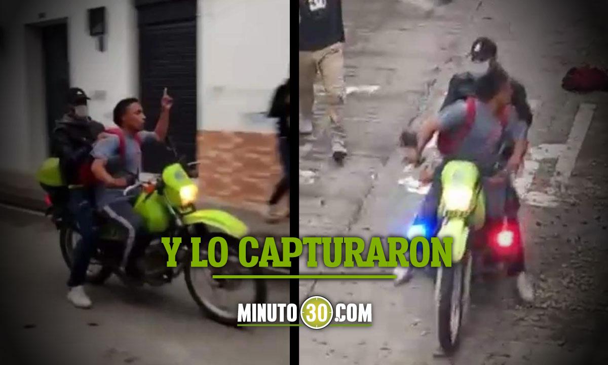 ¡'Atrevidito'! Se robó una moto de la Policía y se paseó en ella por toda la ciudad