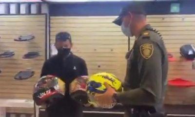 cascos policia medellin recuparados