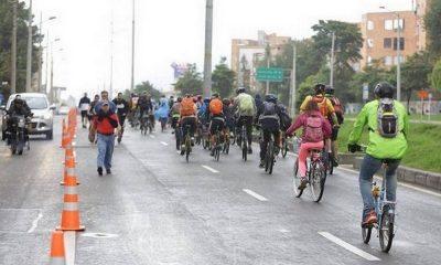 Cancelan ciclovía en Bogotá durante cuarentena de finde