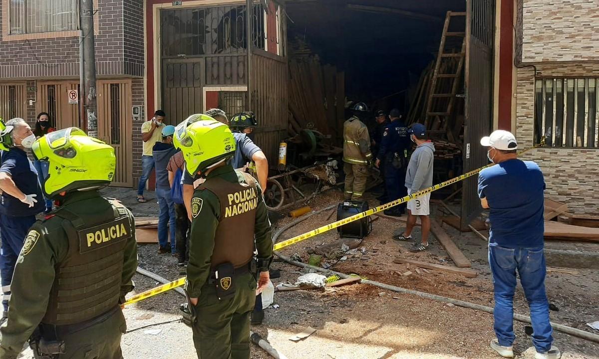 Explosión bodega de Bogotá