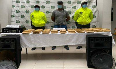 ¡Lo pillaron! En un hotel en el Chocó escondió 40 paquetes de marihuana