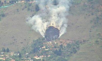 Incendio forestal en ladera oriental