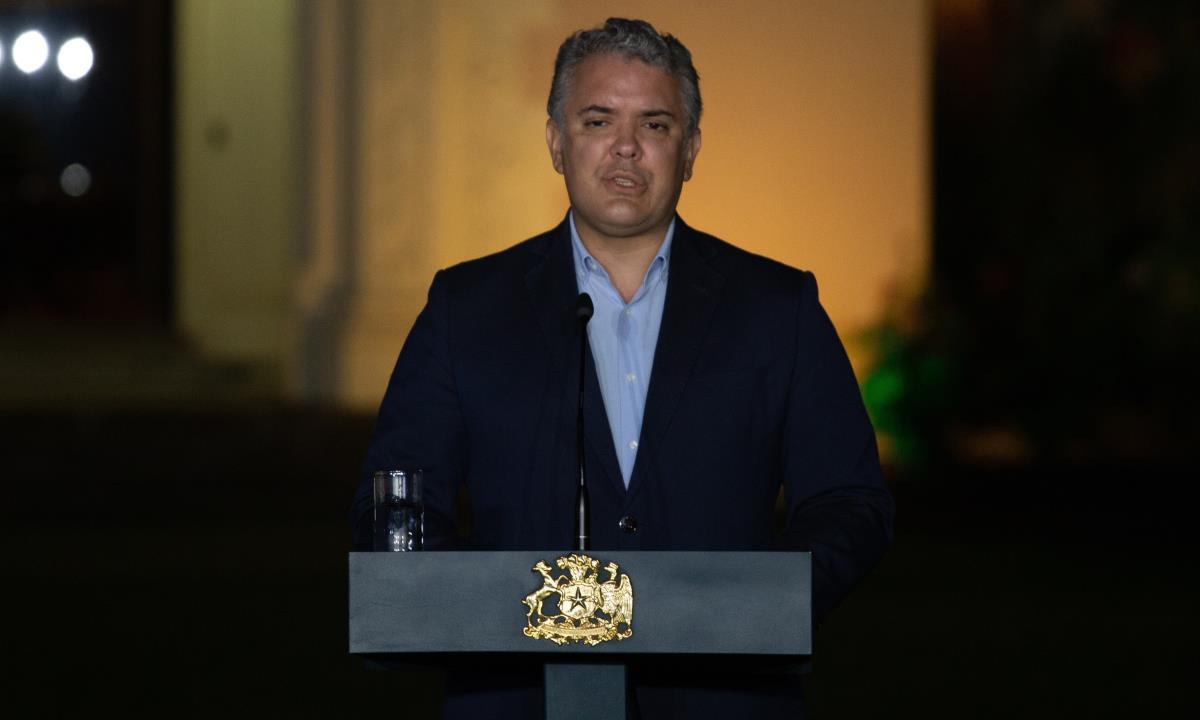 El mandatario colombiano, Iván Duque. EFE/Adriana Thomasa/Archivo