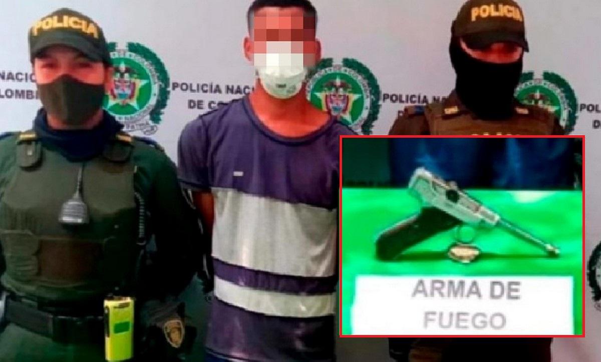 Ladrón hurtaba en Cartagena con una costosa e histórica pistola