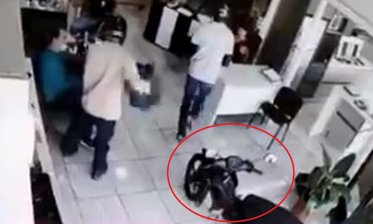 Ladrones metieron hasta la moto a la empresa donde iban a robar