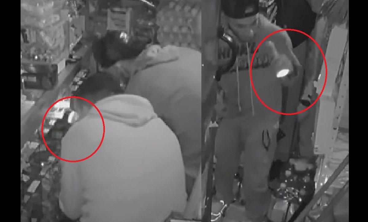 Ladrones se roban dulces de tienda