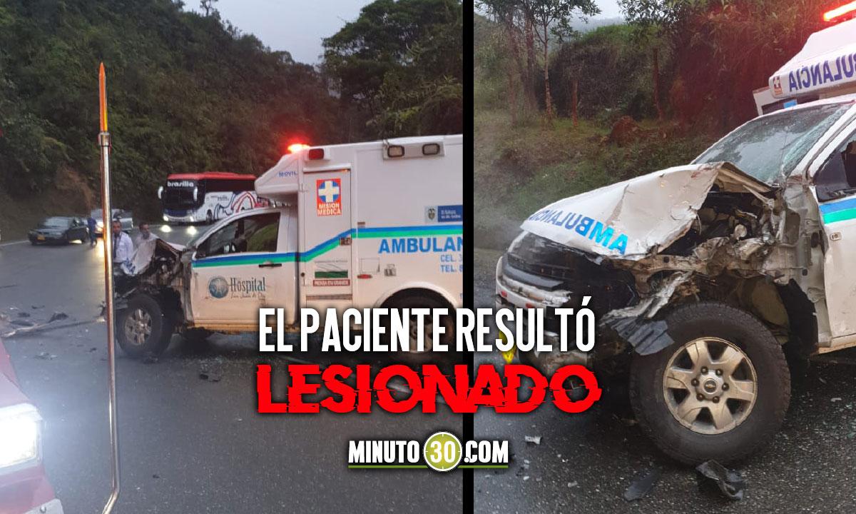 ¡Terrible! Ambulancia sufrió un accidente en Yarumal