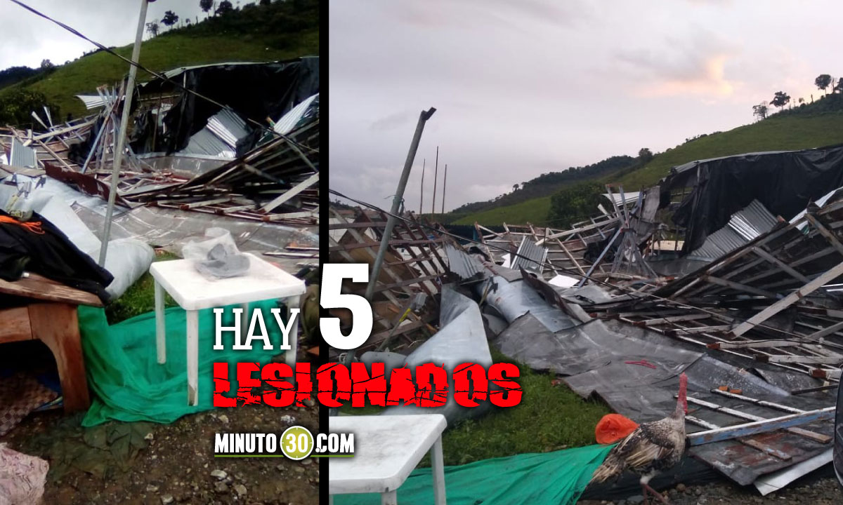 [Fotos] ¡Ni el comando de la Policía se salvó! Por fuertes vientos en Dabeiba hay varias viviendas destruidas