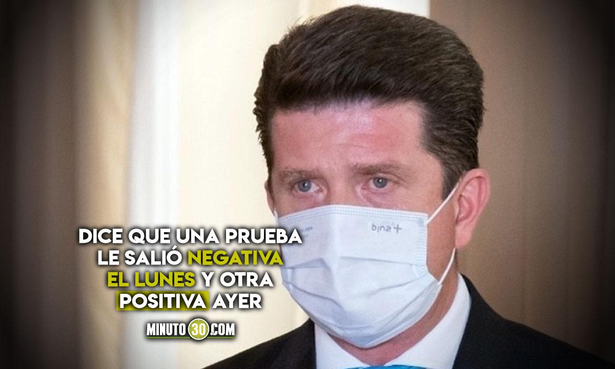 Ministro de Defensa Diego Molano estará en aislamiento preventivo por síntomas Covid