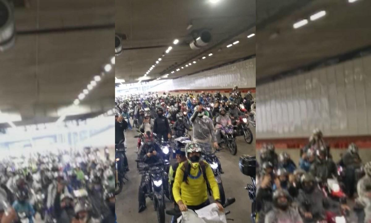 motos soterrado paro nacional 28 abril