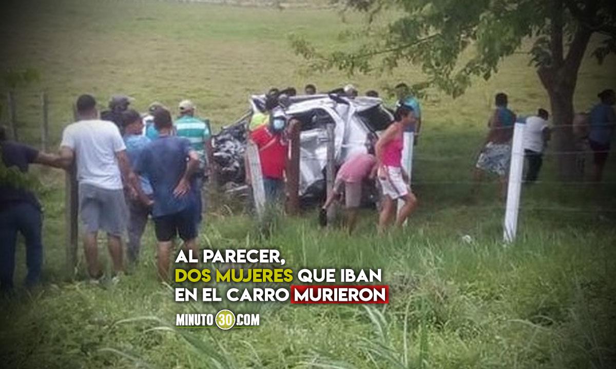Fatal accidente en la vía de Medellín a la costa