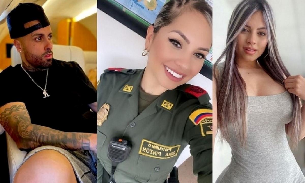 Nicky Jam 'bota la baba' por sexy policía colombiana