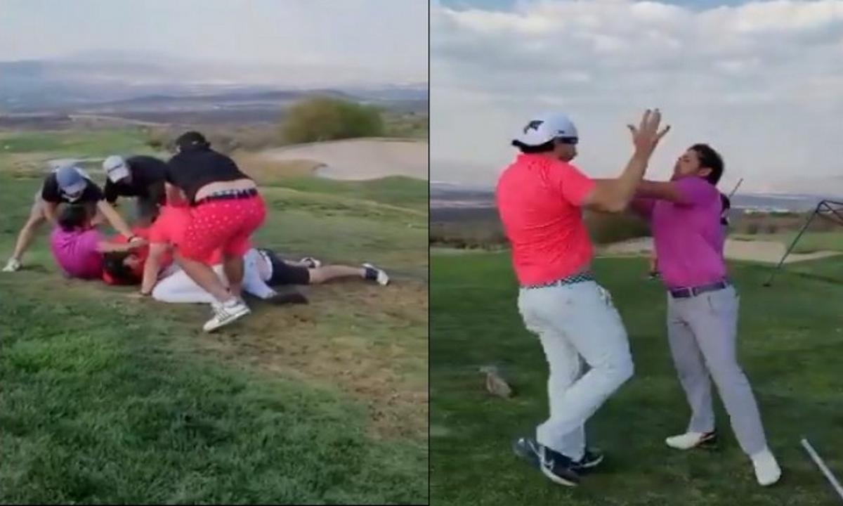 pelea-campo-golf