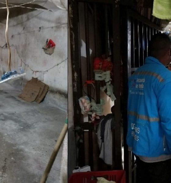 Vigilan jornada de aseo en la estación de Policía de La Candelaria