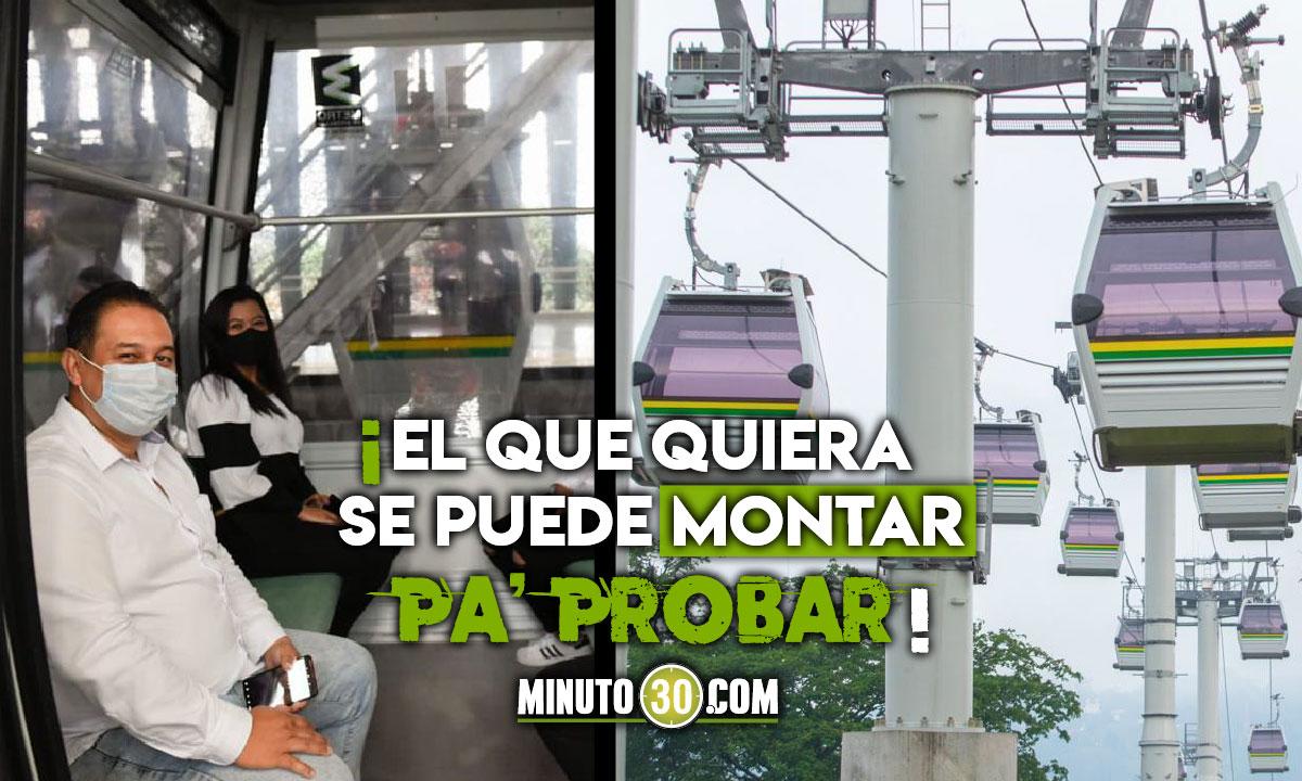 ¿Se montaría? El Metrocable Picacho inició la fase de pruebas con usuarios