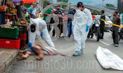 [Fotos] Por La Minorista mataron a un habitante de calle, tiene varias heridas que serían de arma blanca