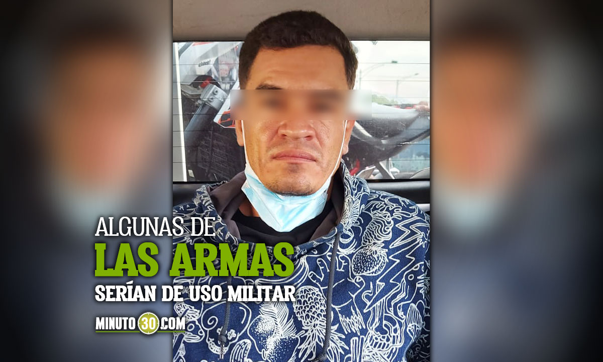 """A la cárcel alias """"Pireli"""", es acusado de guardar armas de fuego en una casa en de la Comuna 5 de Medellín"""