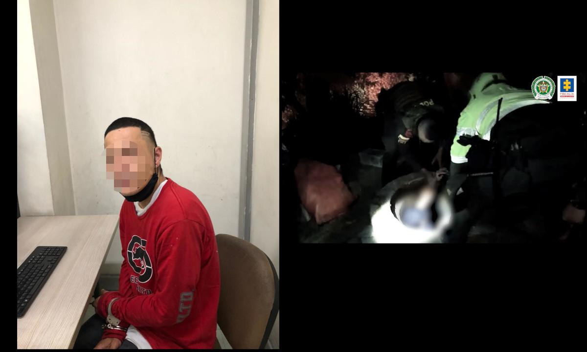 [Video] Momento de la liberación de un hombre secuestrado en una alcantarilla en Medellín