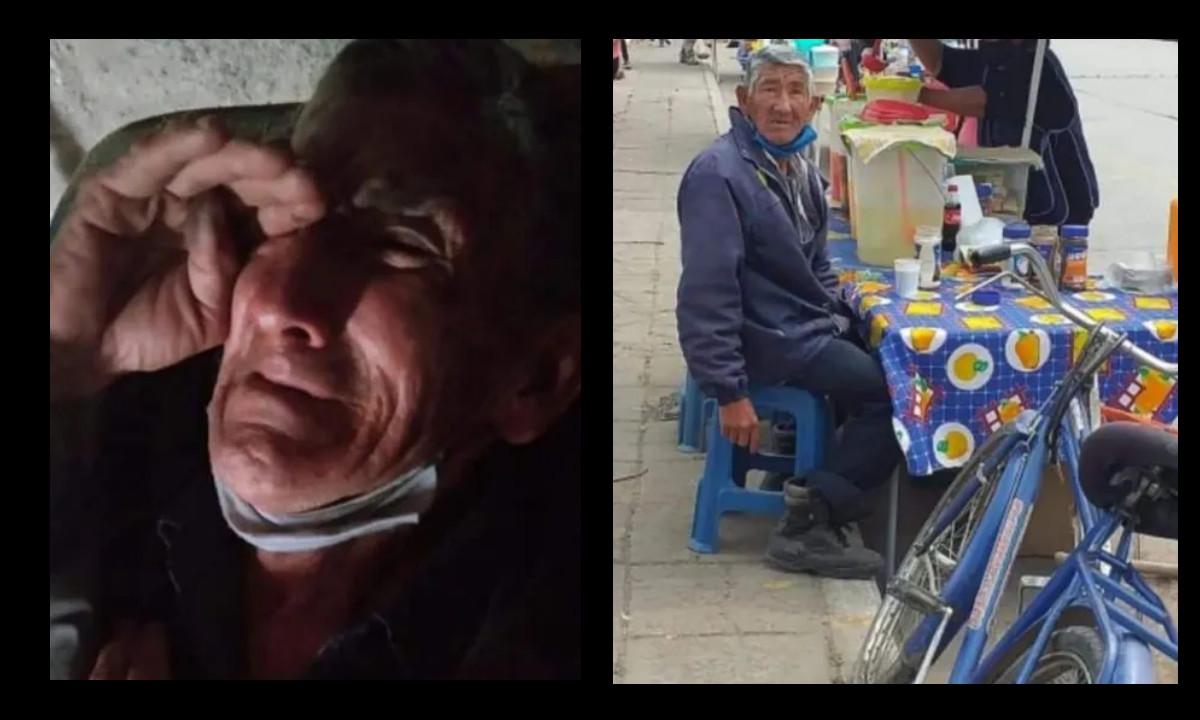 ¡Doloroso! Abuelito no paraba de llorar porque se le robaron su bicicleta