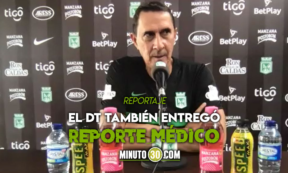 Alexandre Guimaraes confirma bajas en Atletico Nacional para partido de Libertadores