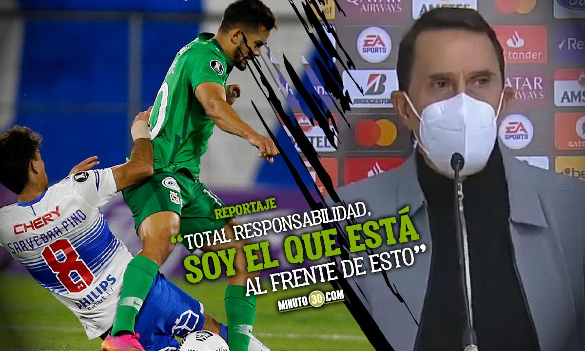 Alexandre Guimaraes hablO tras la eliminacion de Nacional de Copa Libertadores