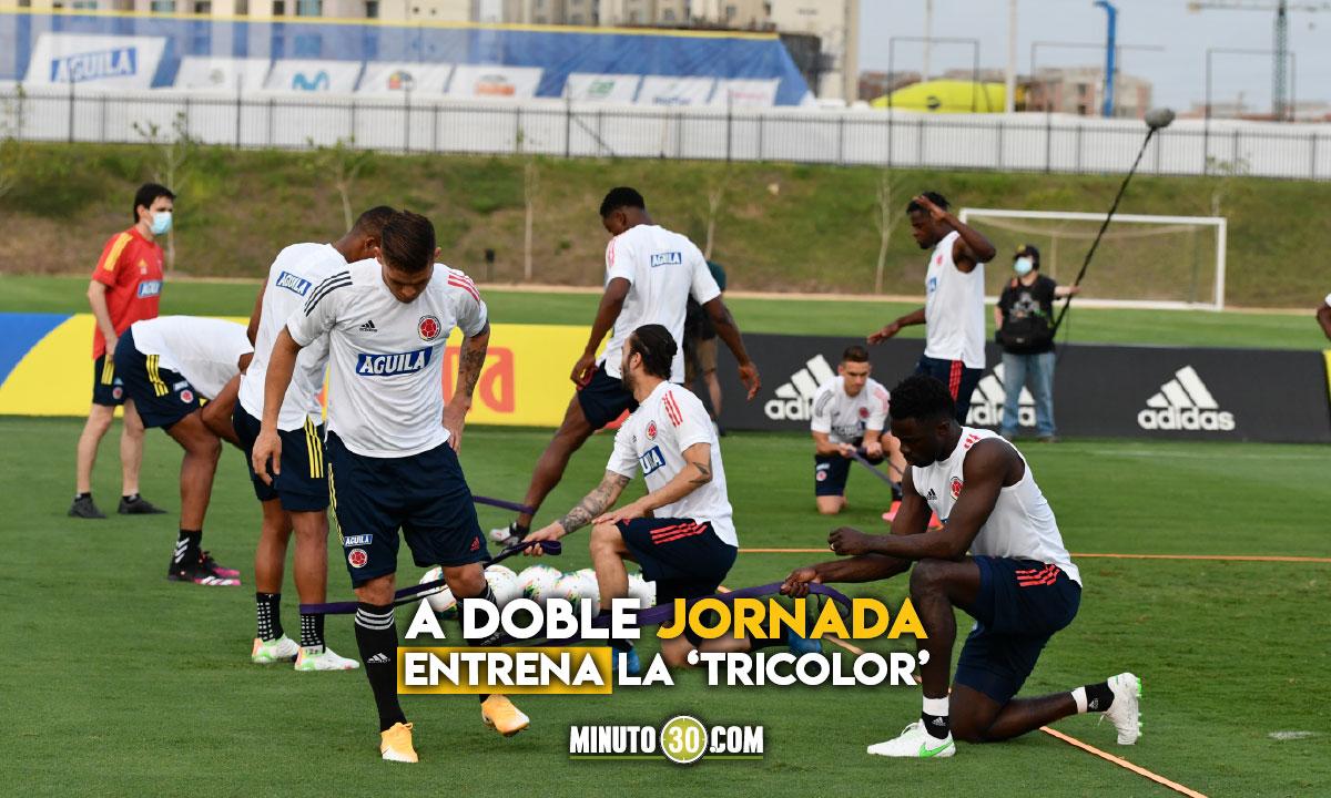 Asi avanza el entrenamiento de la Seleccion Colombia en Barranquilla