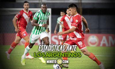 Asi le ha ido a Atletico Nacional frente a los equipos de Argentina