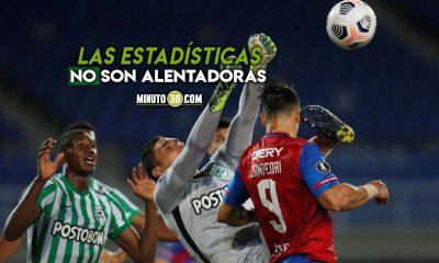 Atletico Nacional estadisticas frente a equipos de Chile