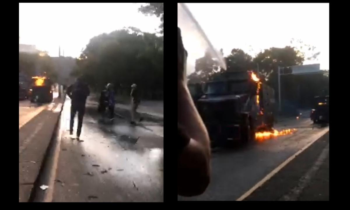 [Video] Momentos de enfrentamientos en la calle Barranquilla de Medellín