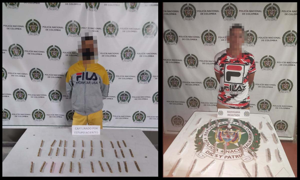 ¡'Surtiditos'! Capturaron en Medellín a estos dos sujetos con marihuana