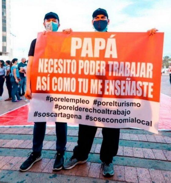 Hijo del Alcalde de Cartagena protestó en contra del toque de queda que decretó su papá