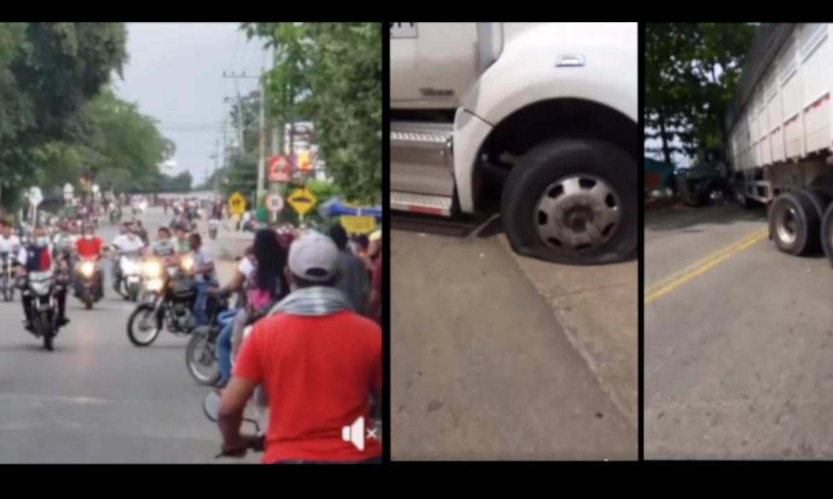 Manifestantes continúan bloqueando la vía Medellín -Caucasia
