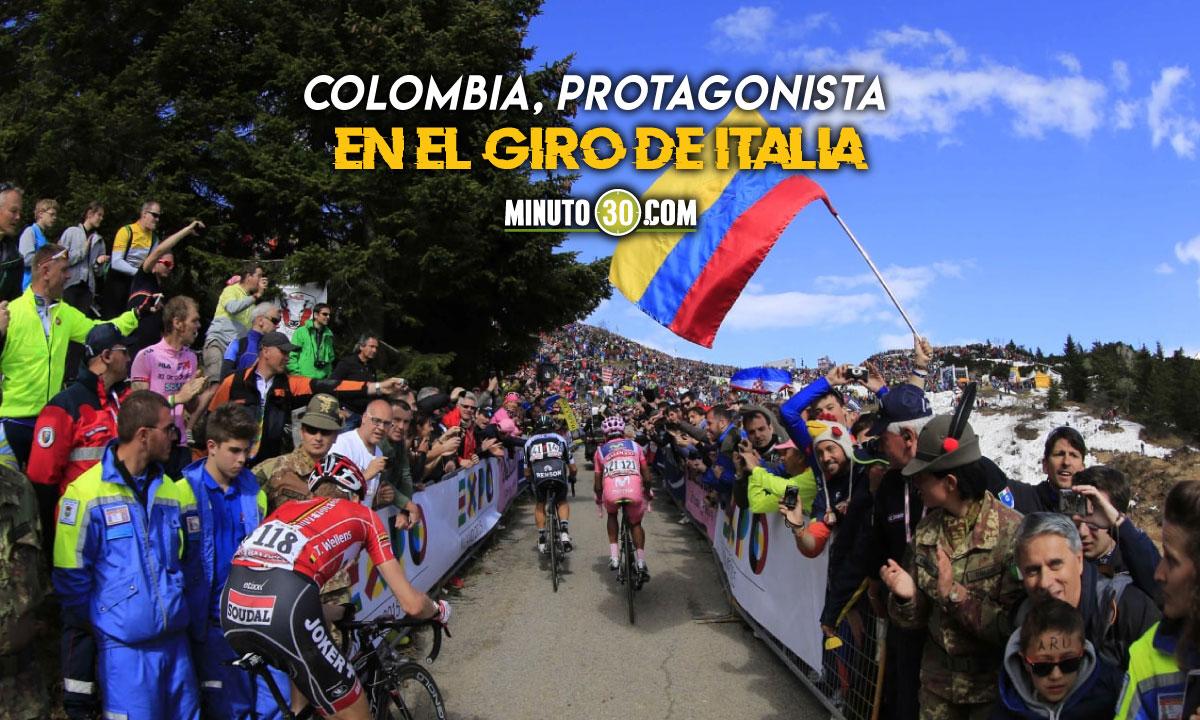 Ciclistas colombianos recibe de cerca el apoyo de sus compatriotas