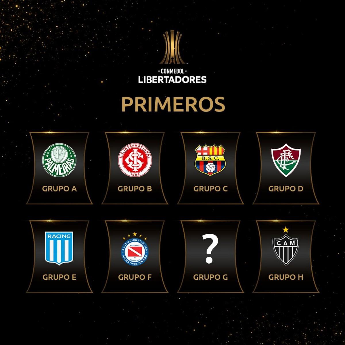 Clasificados a octavos de final Copa Libertadores 1