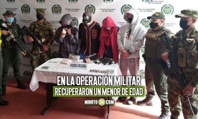"""[Video] Cogieron a cuatro presuntos integrantes del """"Clan del Golfo"""" supuestamente encargados de los homicidios en Urrao"""