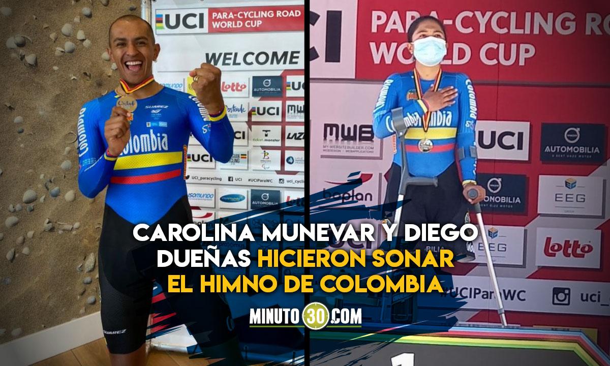 Colombia gano dos medallas de oro en la CRI de la Copa Mundo de Para ciclismo