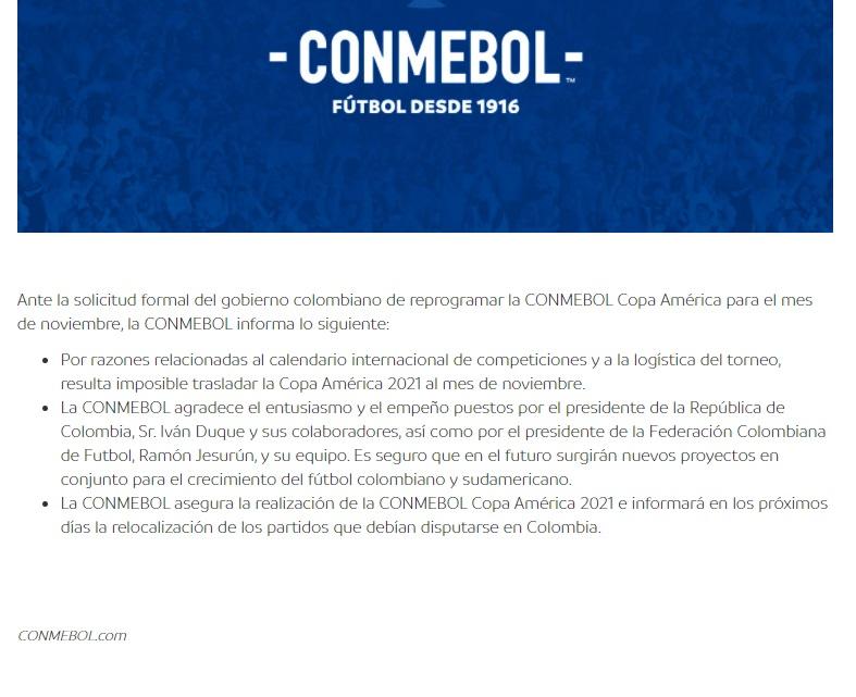 Conmebol-copa américa- Colombia