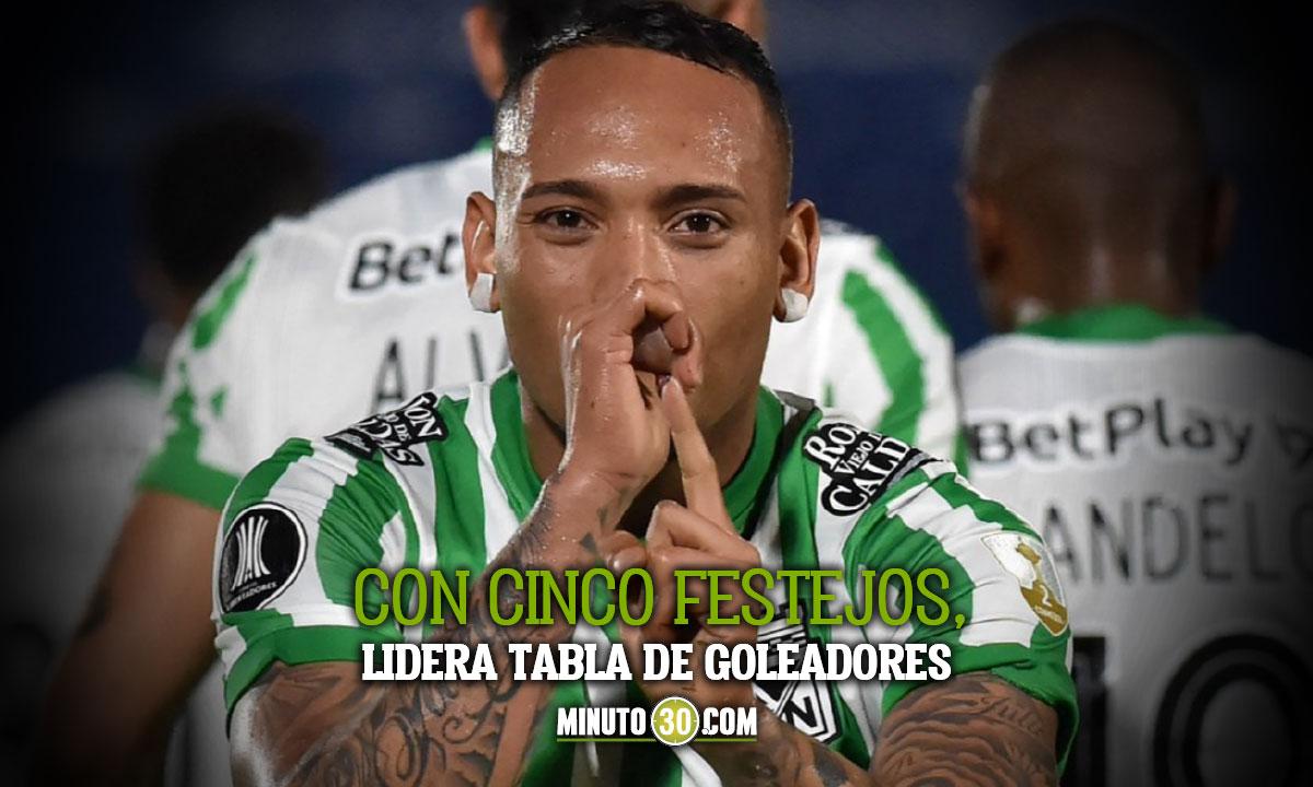 Conmebol destaco los goles de Jarlan Barrera en la Copa Libertadores