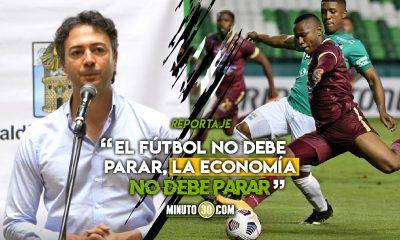 Daniel Quintero le apuesta a que los partidos que restan de la Liga se disputen en Medellin