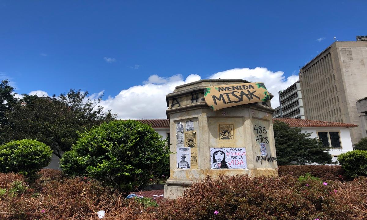 Dilan Cruz-estatua