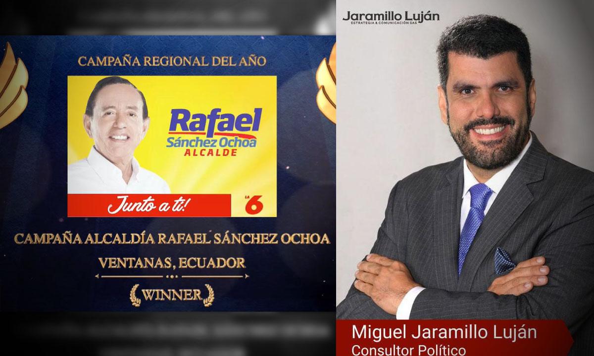 El colombiano que realizo la mejor campana politica regional en Ecuador