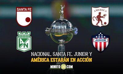 Equipos colombianos acaparan la programacion de hoy en la Copa Libertadores 1