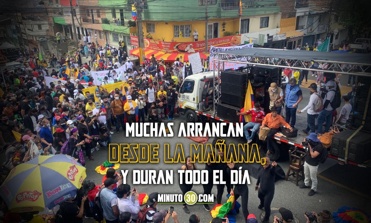 Estos son los recorridos de las manifestaciones del viernes en Medellin