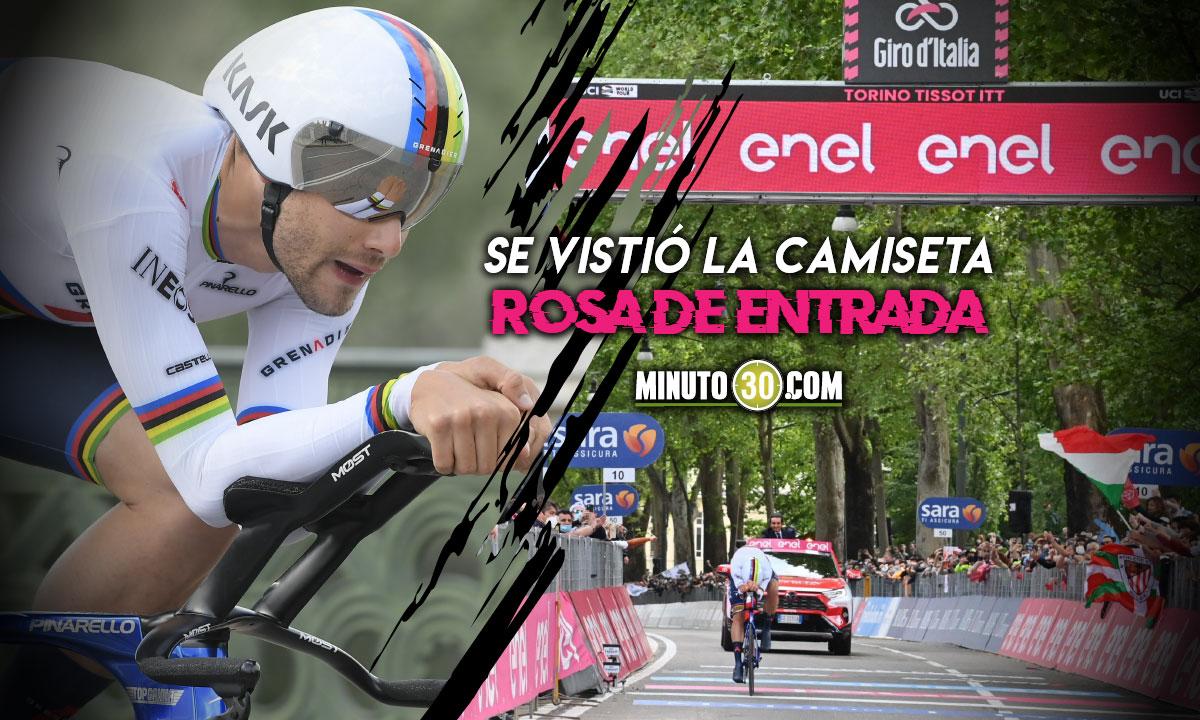 Filippo Ganna en el inicio del Giro de Italia 2021