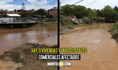 [Fotos] Fuertes lluvias causaron inundación en Marinilla